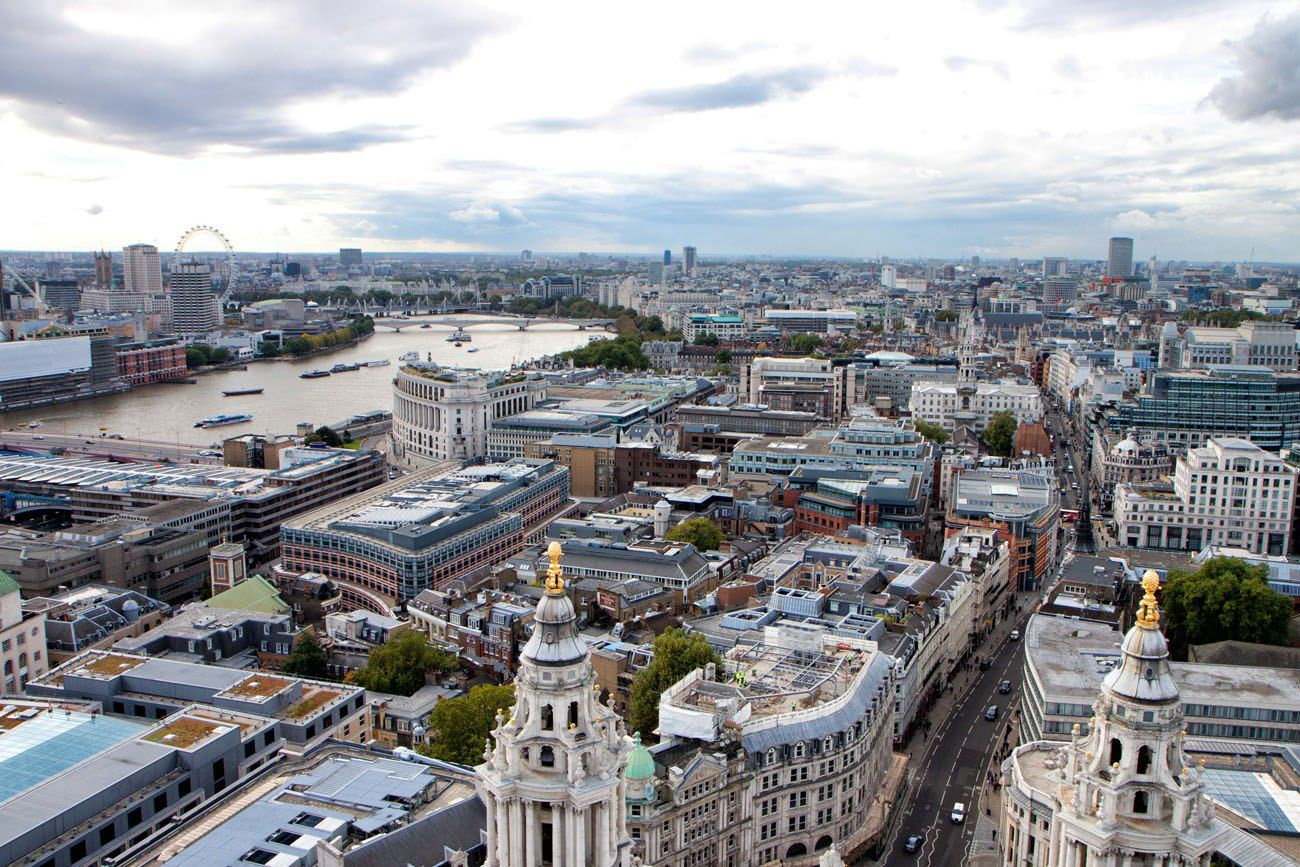 View from St Pauls London Paris itinerary