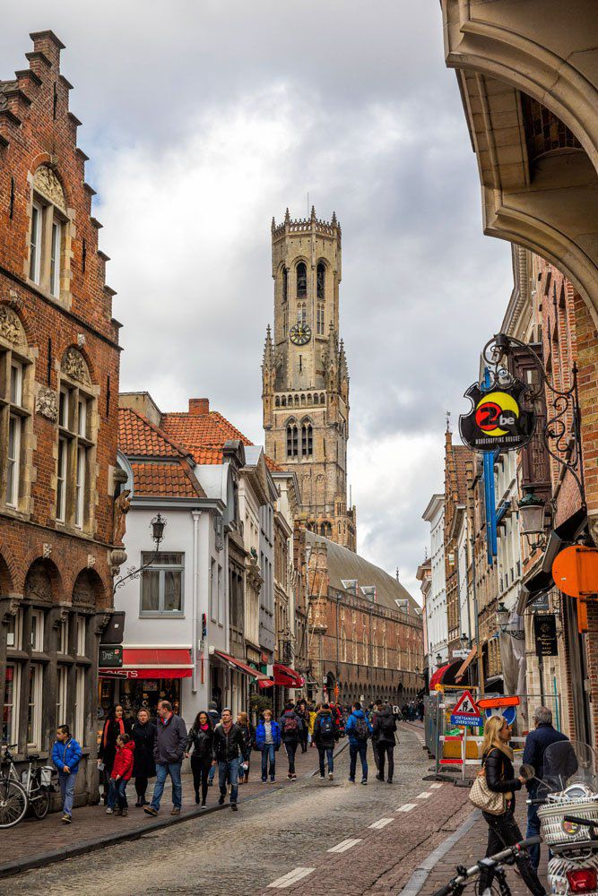Walking through Bruges