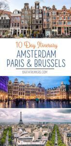 Amsterdam Brussels Paris Itinerary