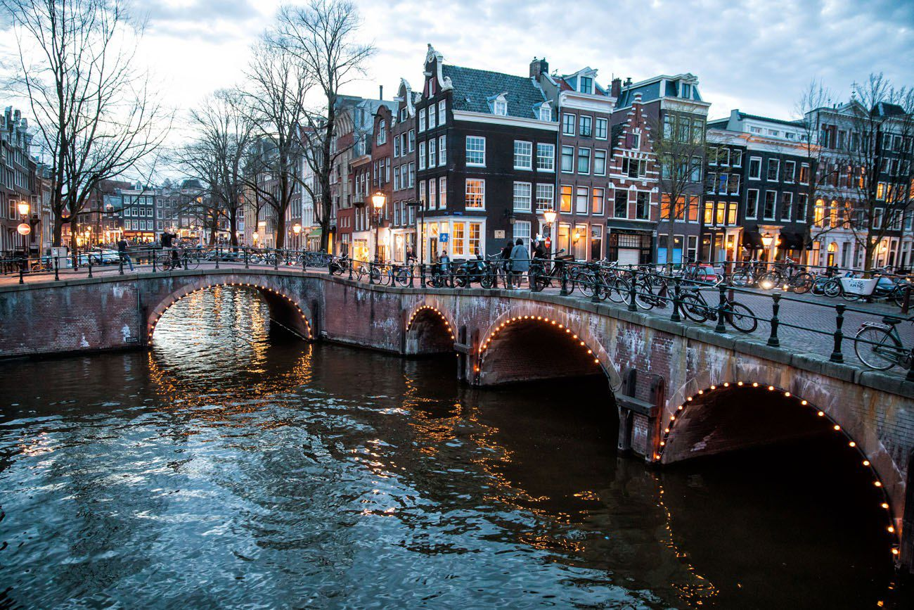 Amsterdam Canals at Twilight
