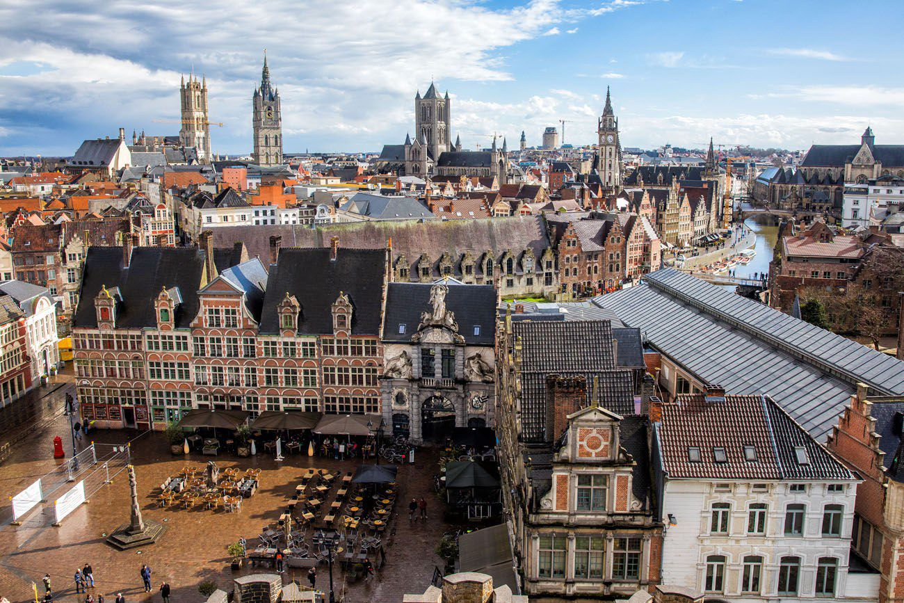 Ghent from Gravensteen
