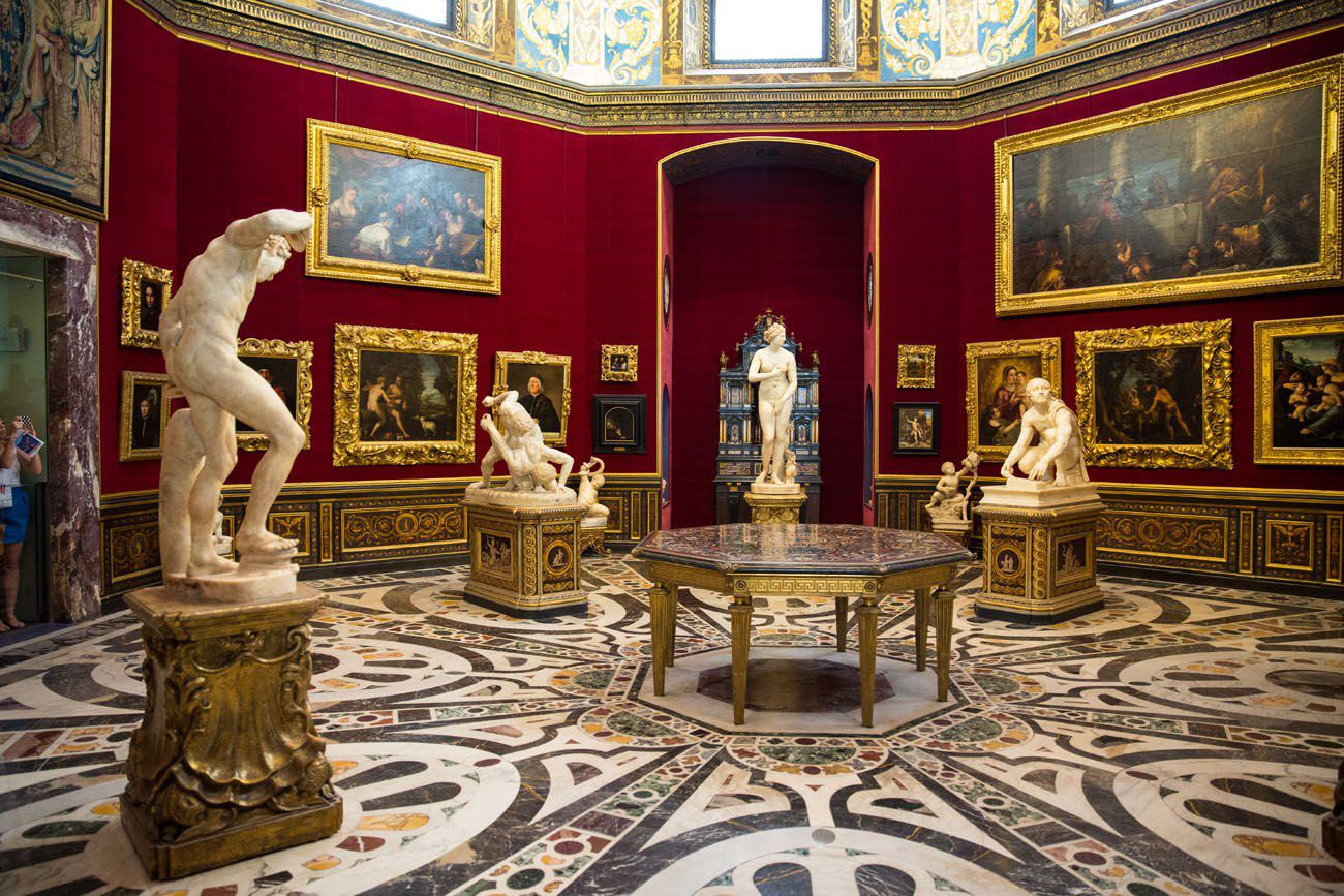 Inside the Uffizi Florence