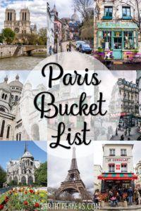Paris Bucket List Travel