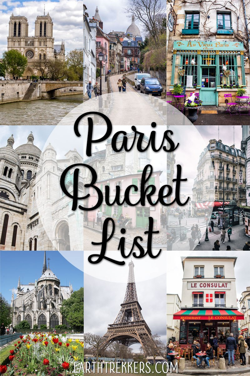 Paris Bucket List Travel