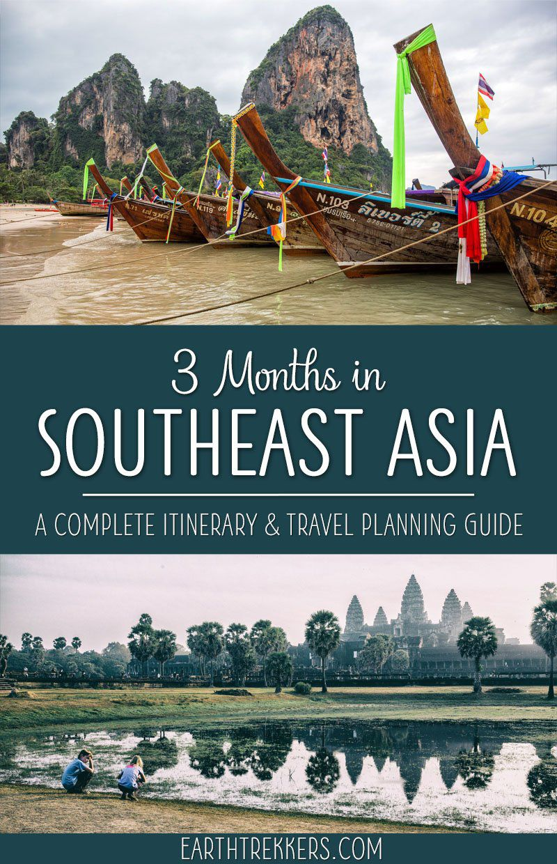 3 month Southeast Asia itinerary and Southeast Asia travel planning guide. How to travel through Myanmar, Thailand, Laos, Cambodia, and Vietnam, get visa information, and plan your perfect trip to Asia.
