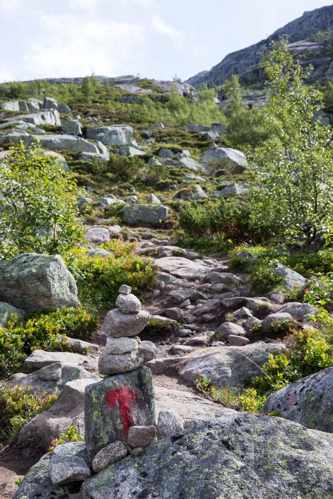 Trail Marker Trolltunga