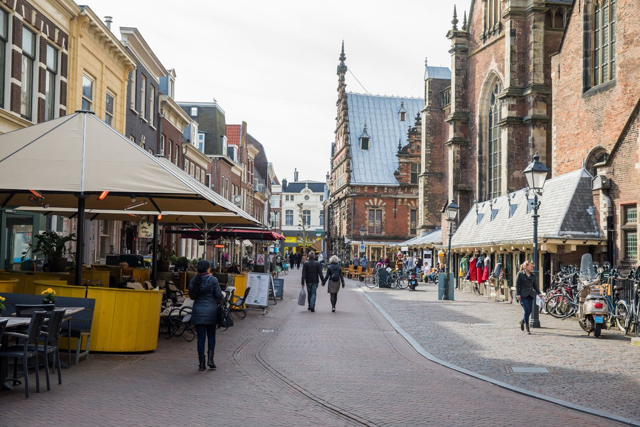 Walking through Haarlem