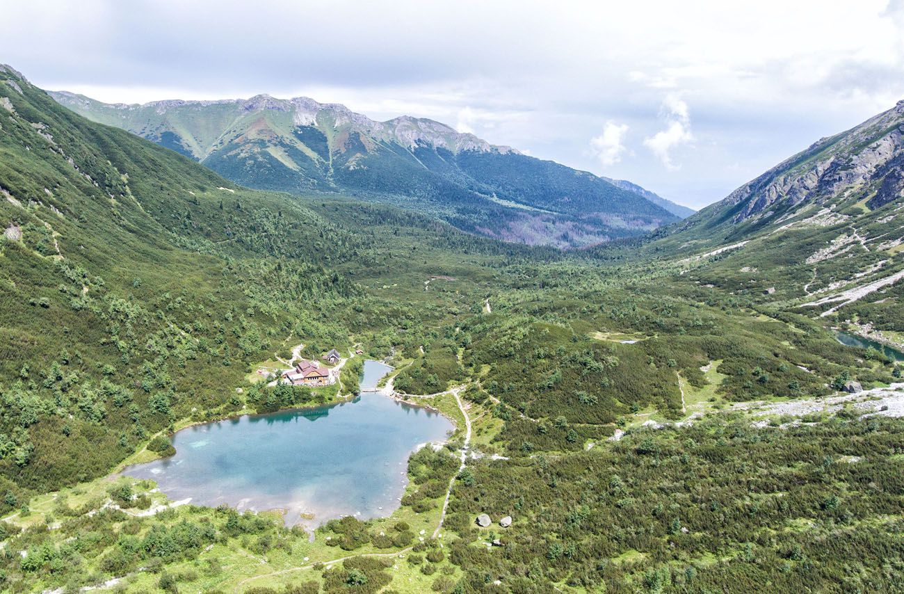 Aerial View of Zelene Pleso