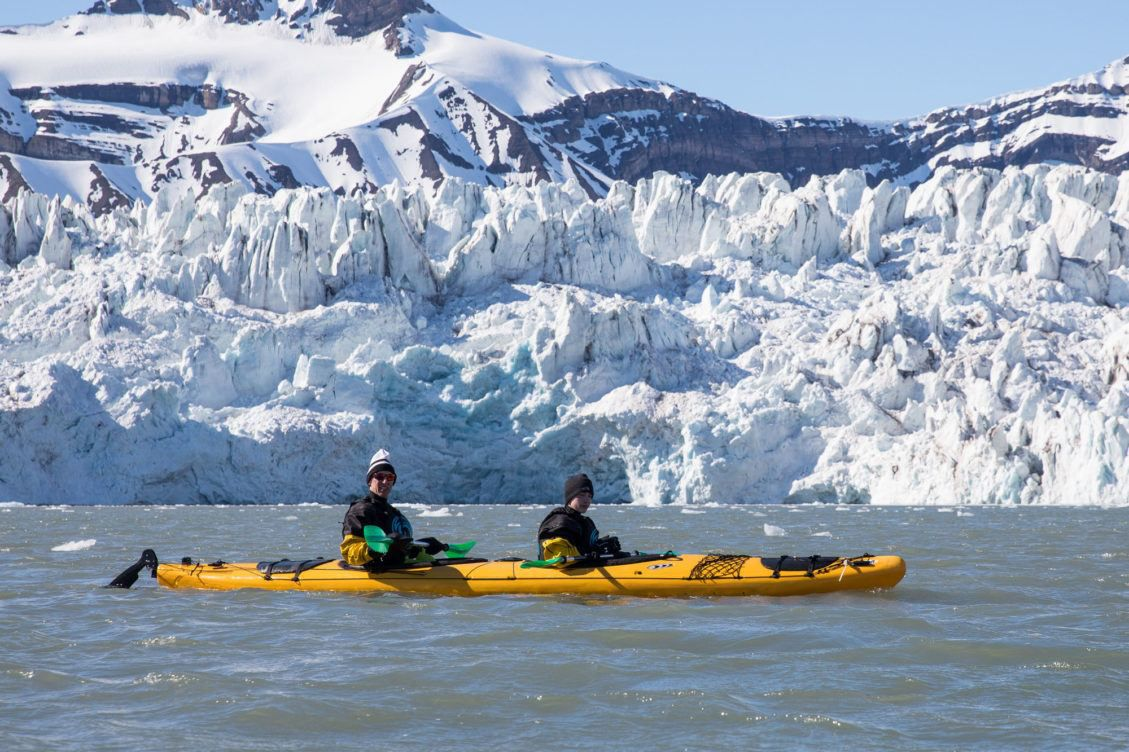 Kayaking Svalbard
