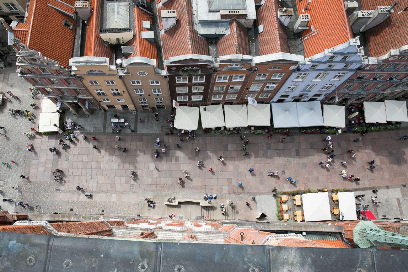 Looking down on Gdansk