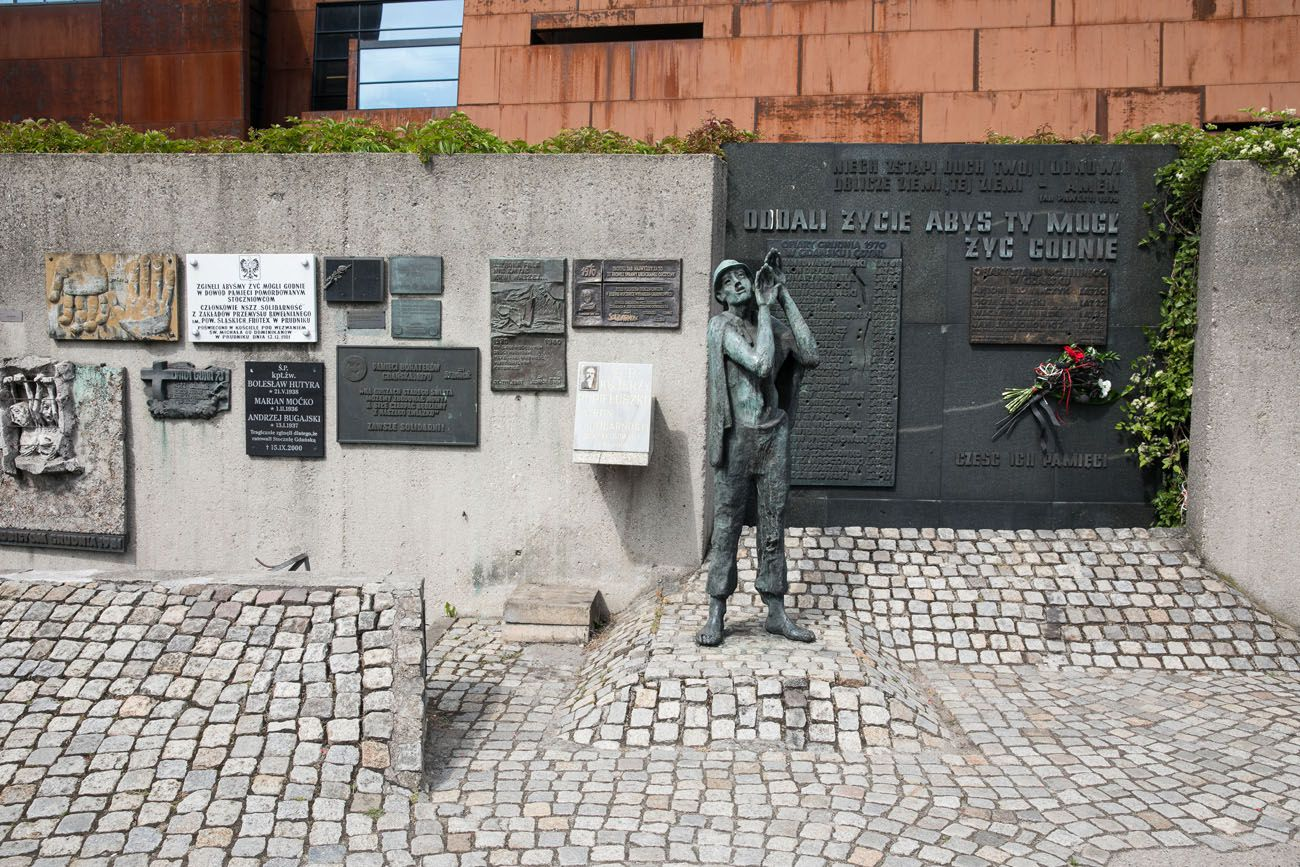 Plaques outside museum