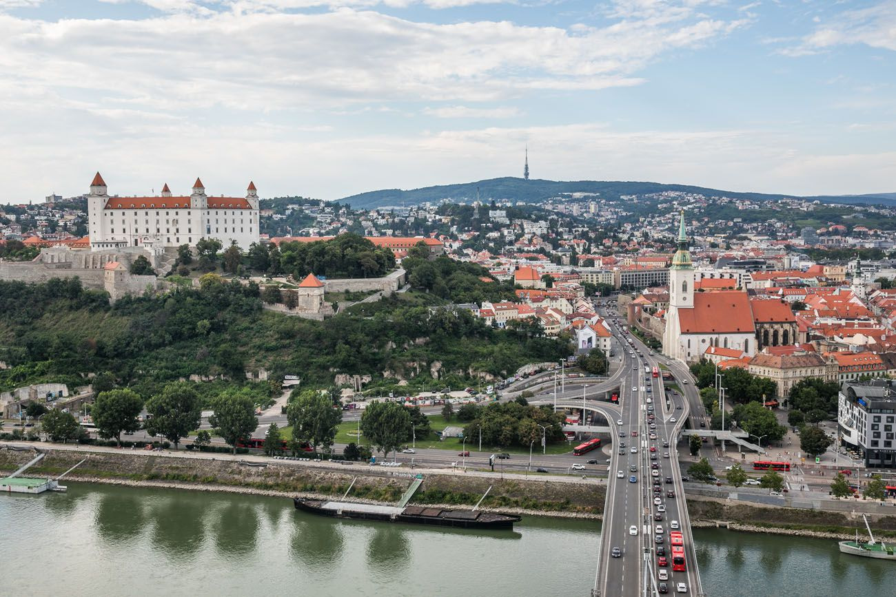 Bratislava from UFO Tower