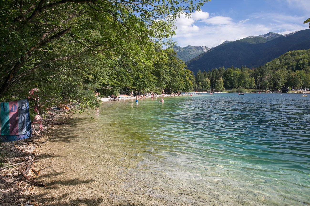 Lake Bohinj in July