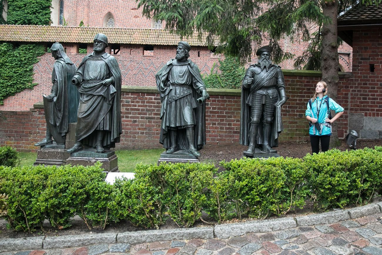 Malbork Castle Statues