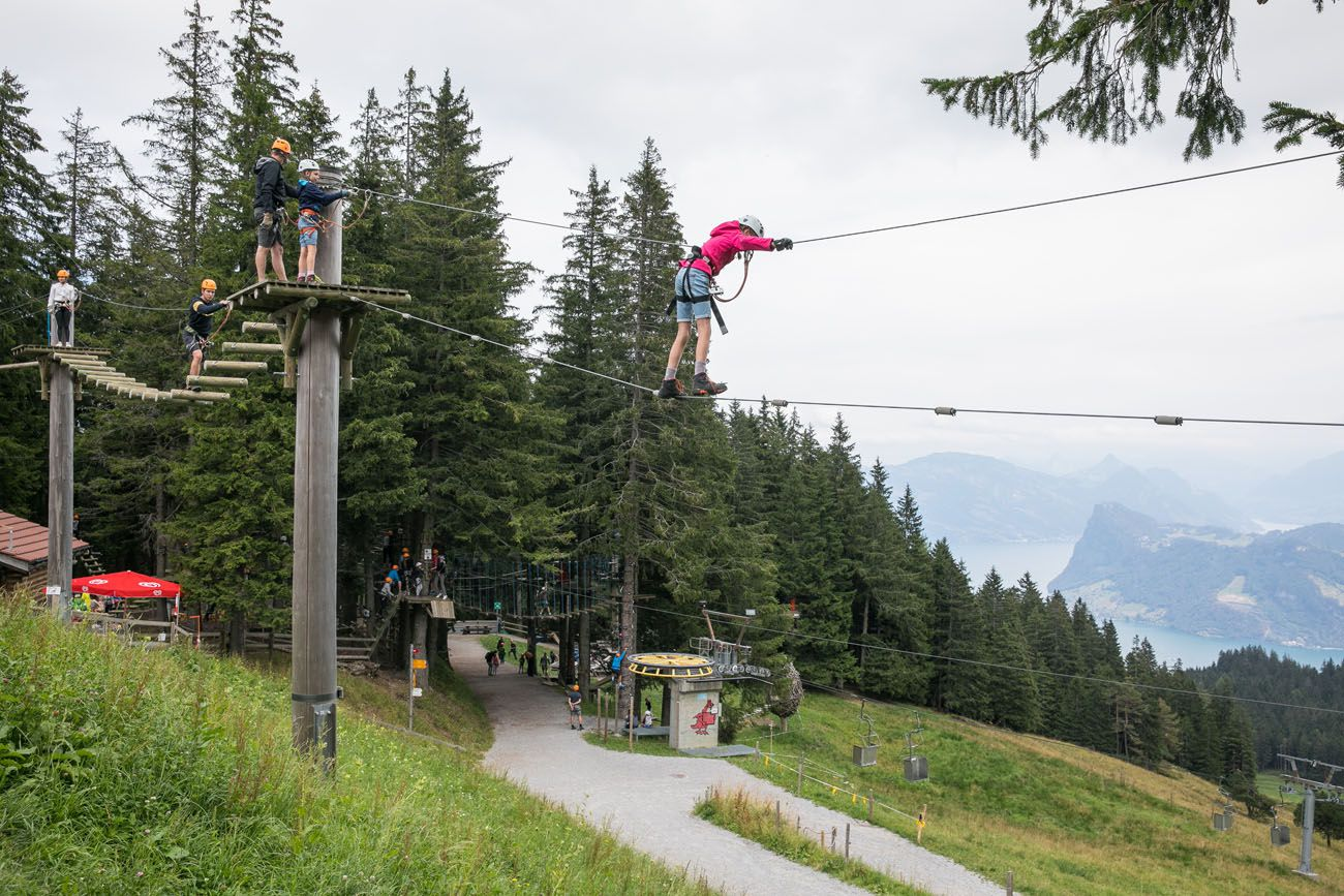 Mt Pilatus Ropes Course