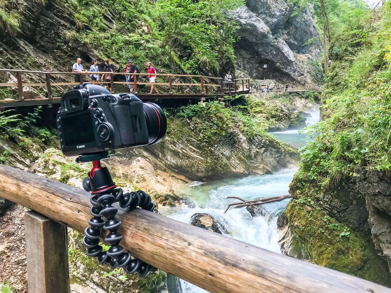 Photographing Vintgar Gorge