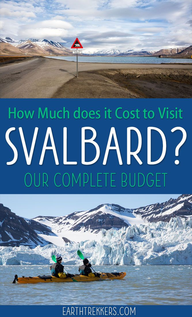 Svalbard Budget Guide: Find out how much it costs to visit Svalbard. #svalbard #norway #traveladvice #budget