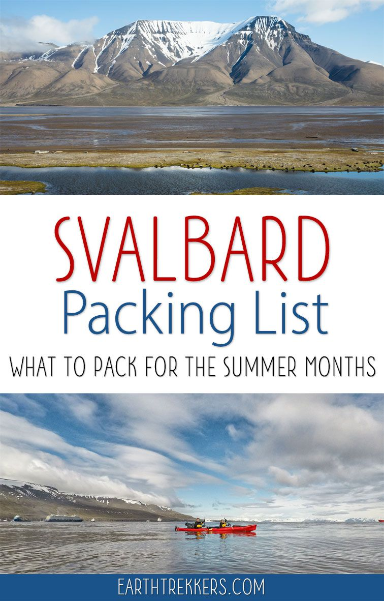 Svalbard Packing List