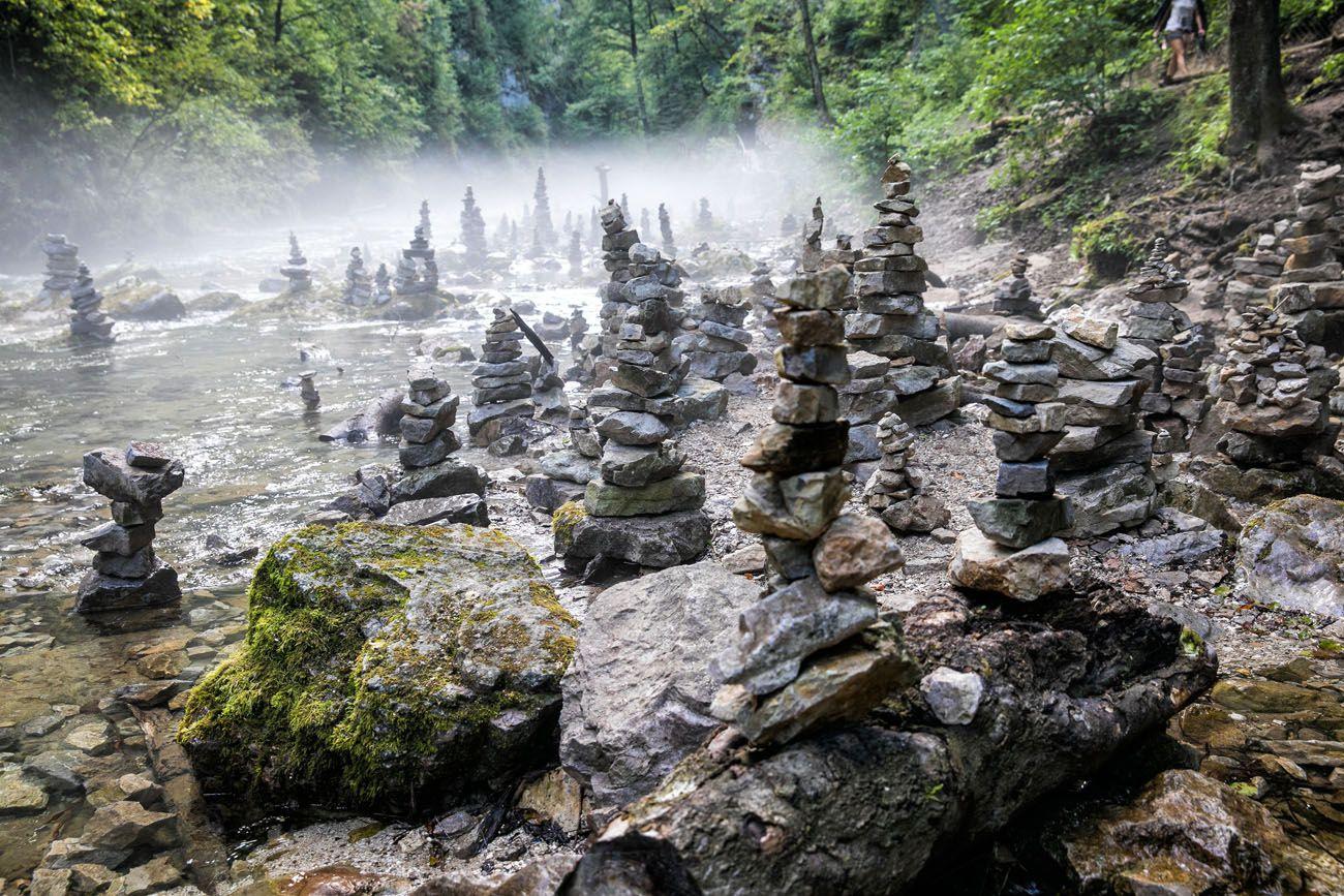 Vintgar Gorge Cairns