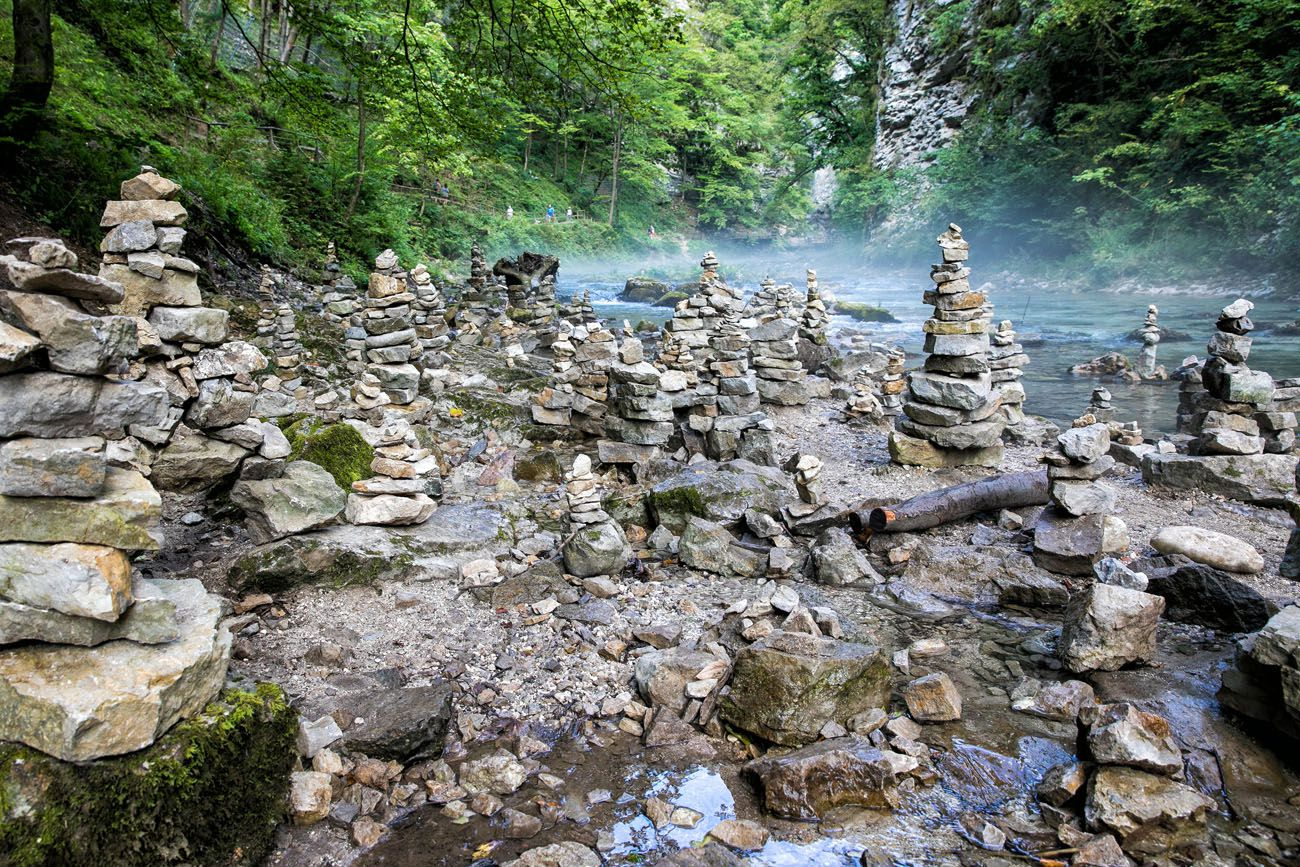 Vintgar Gorge Rock Piles