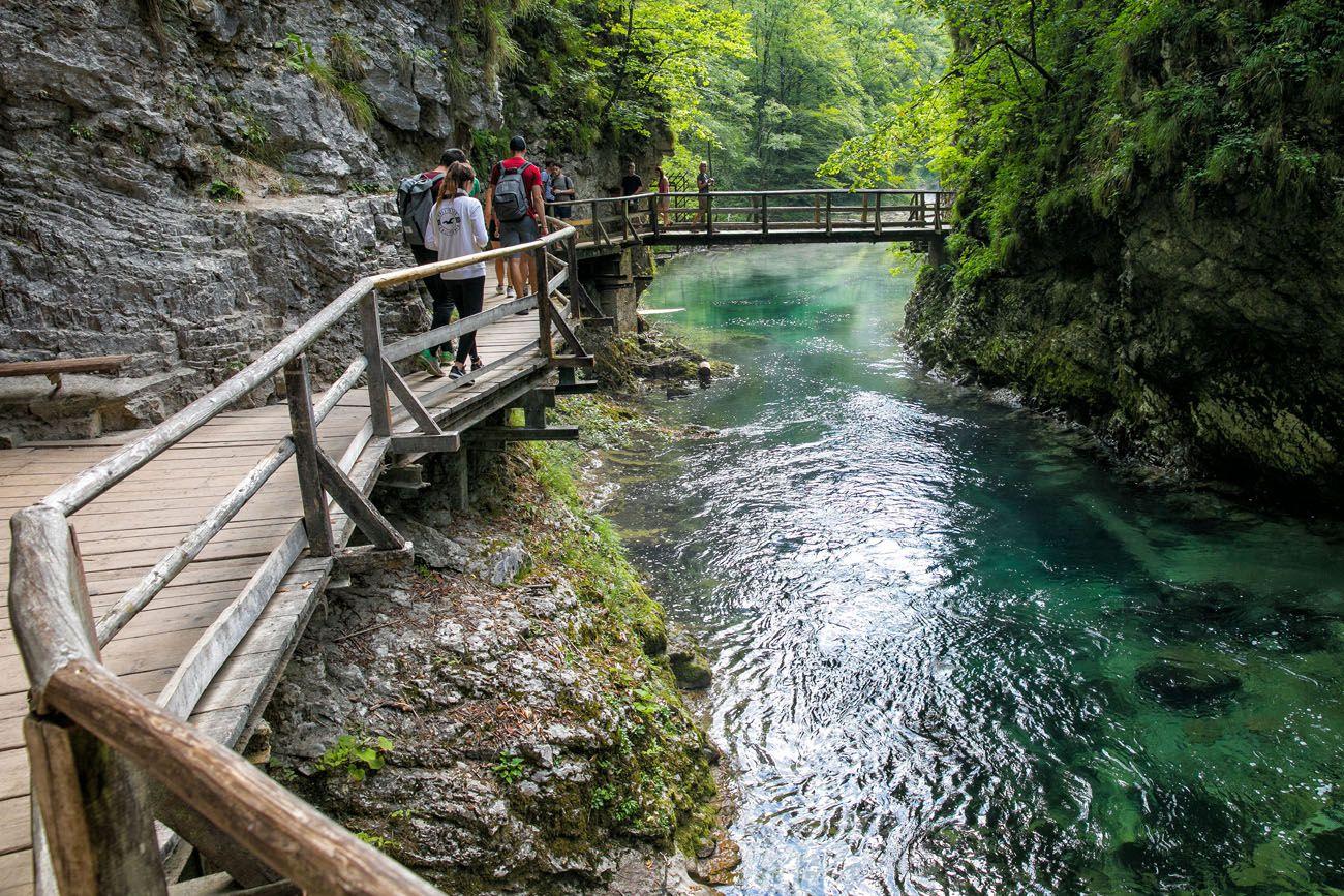 Vintgar Gorge in Summer