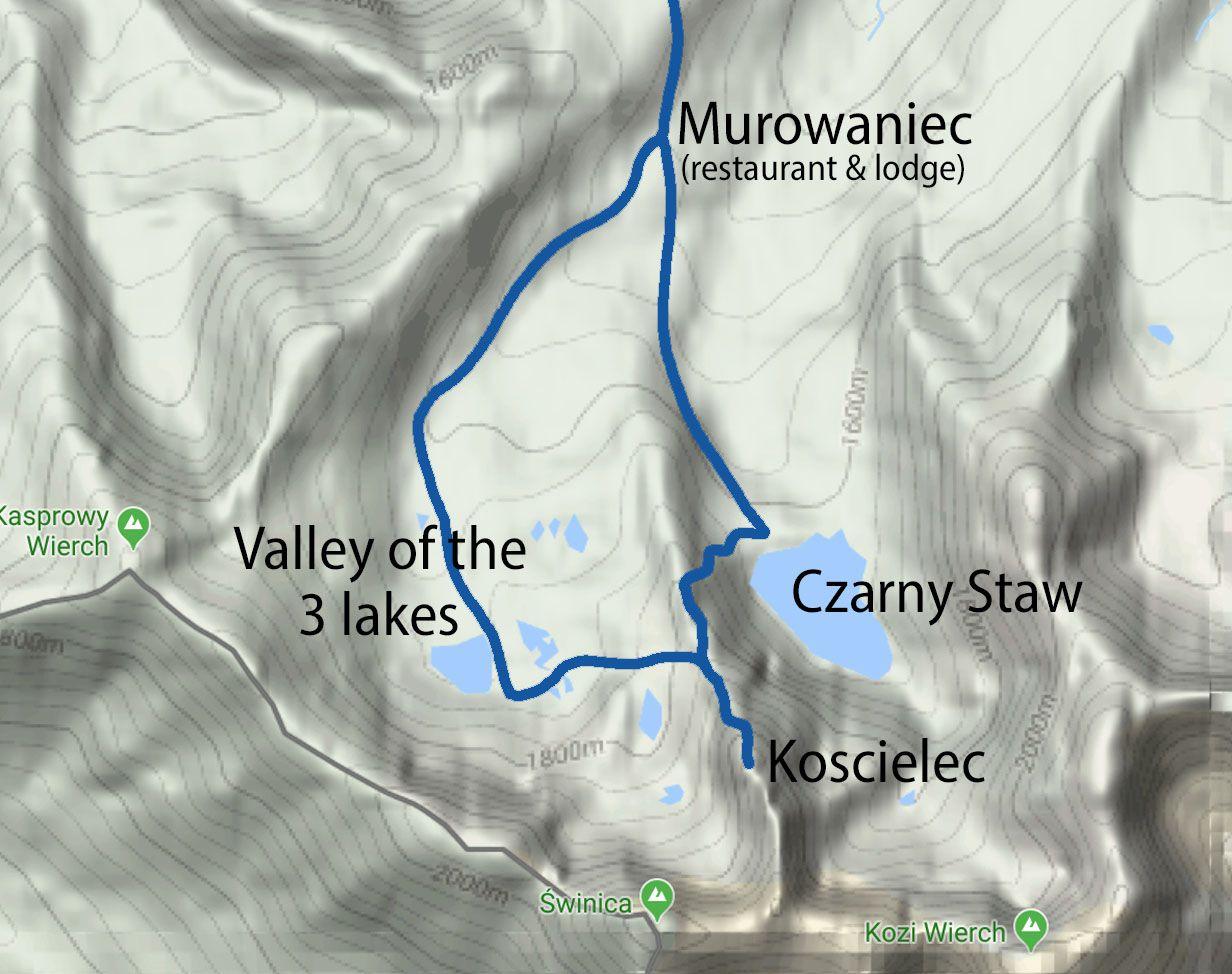 Koscielec Map