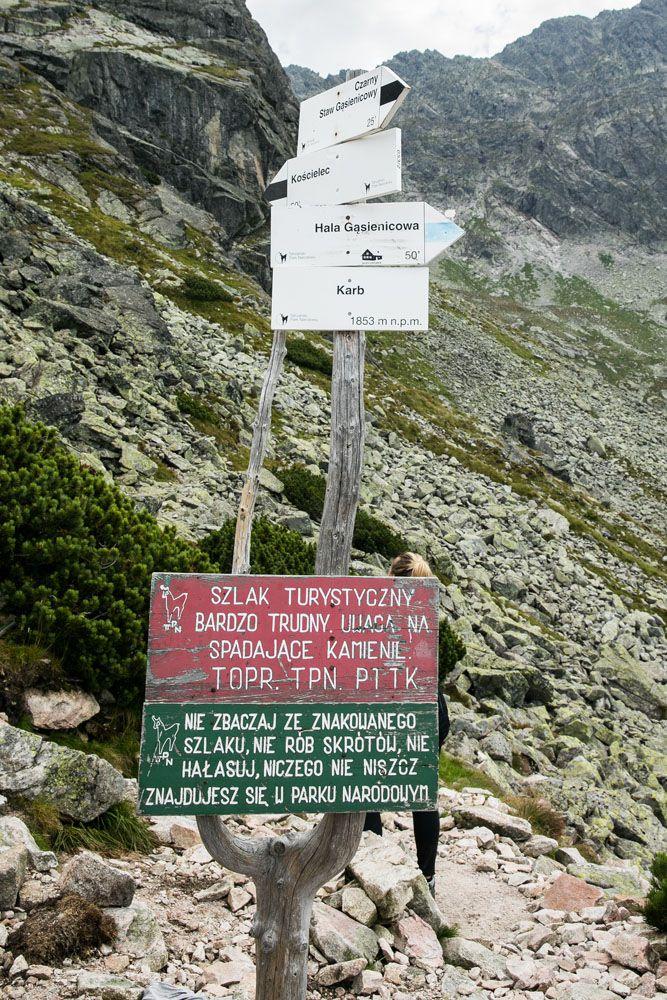 Koscielec Trail Marker