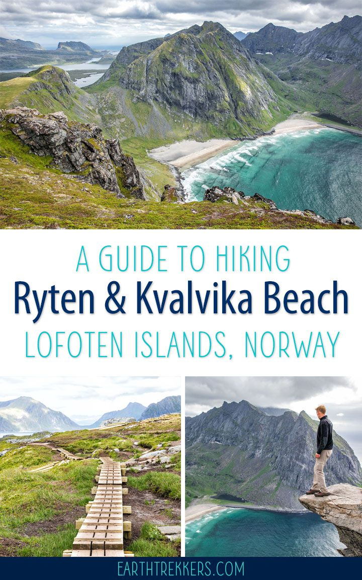 Lofoten Islands Hike Ryten Kvalvika Beach