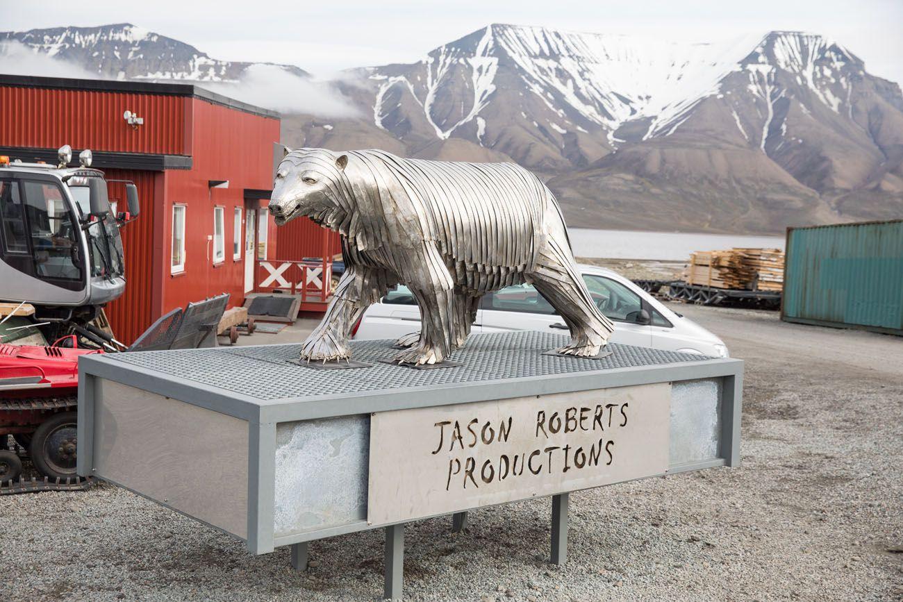 Longyearbyen Polar Bear Statue