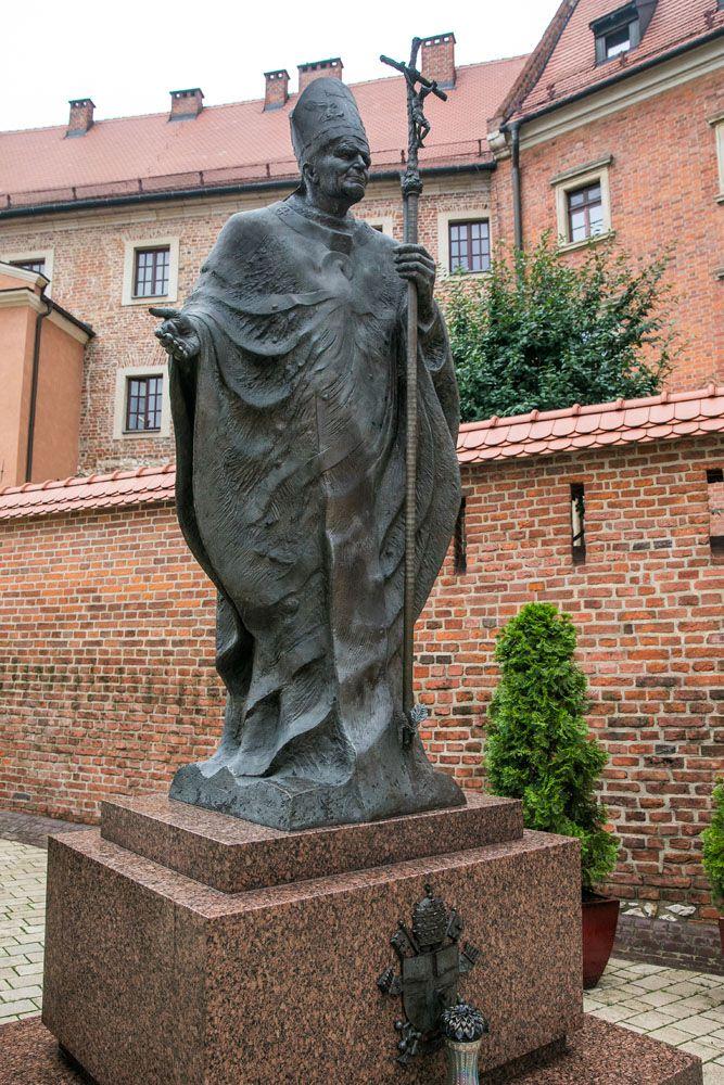 Pope Statue Krakow