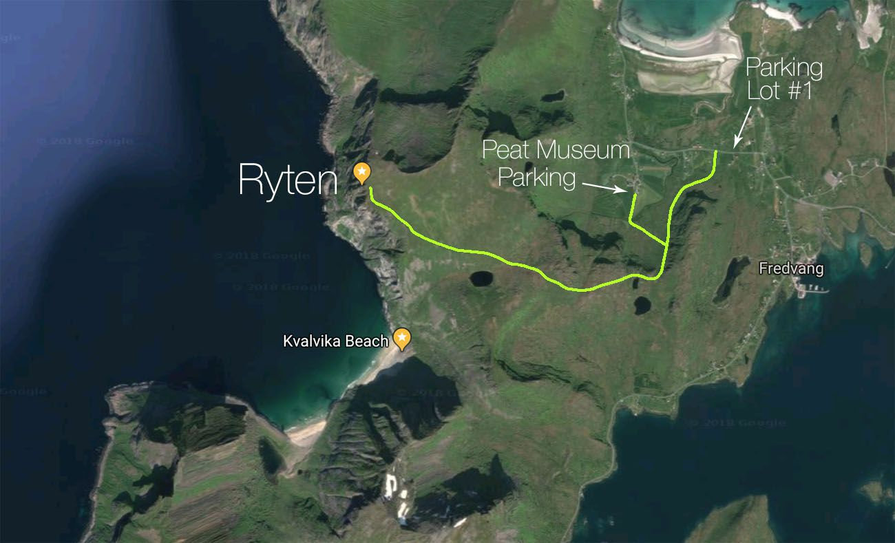 Ryten Hiking Map