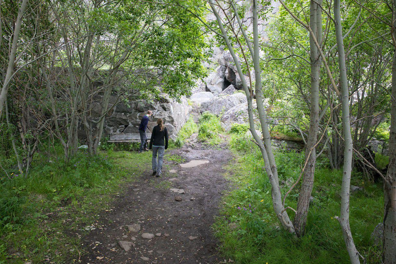 Start of the trail Festvagtind
