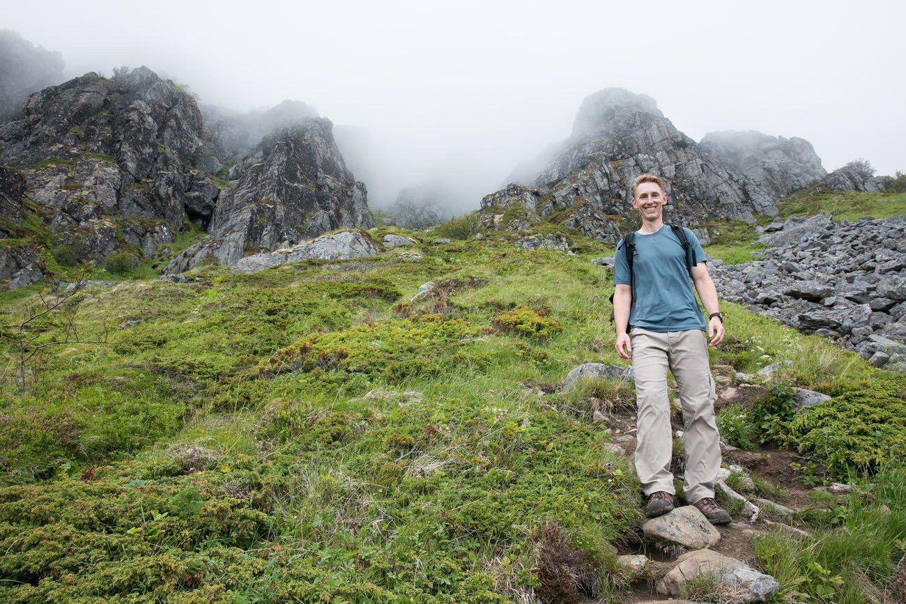 Tim on Festvagtind Trail