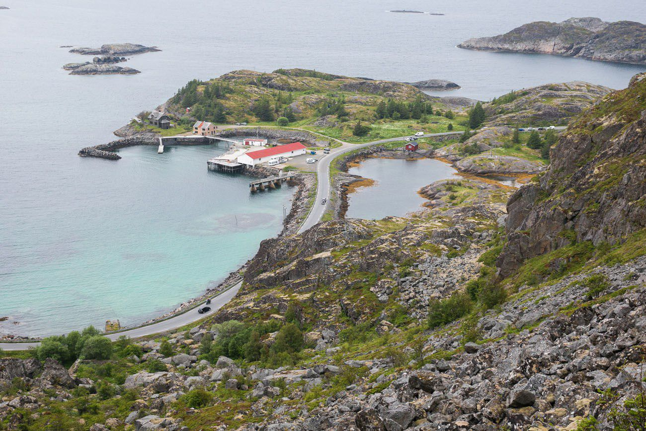 View of Festvagtind Car Park