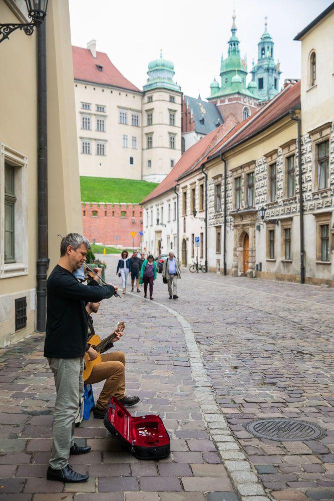 Violin Players in Krakow