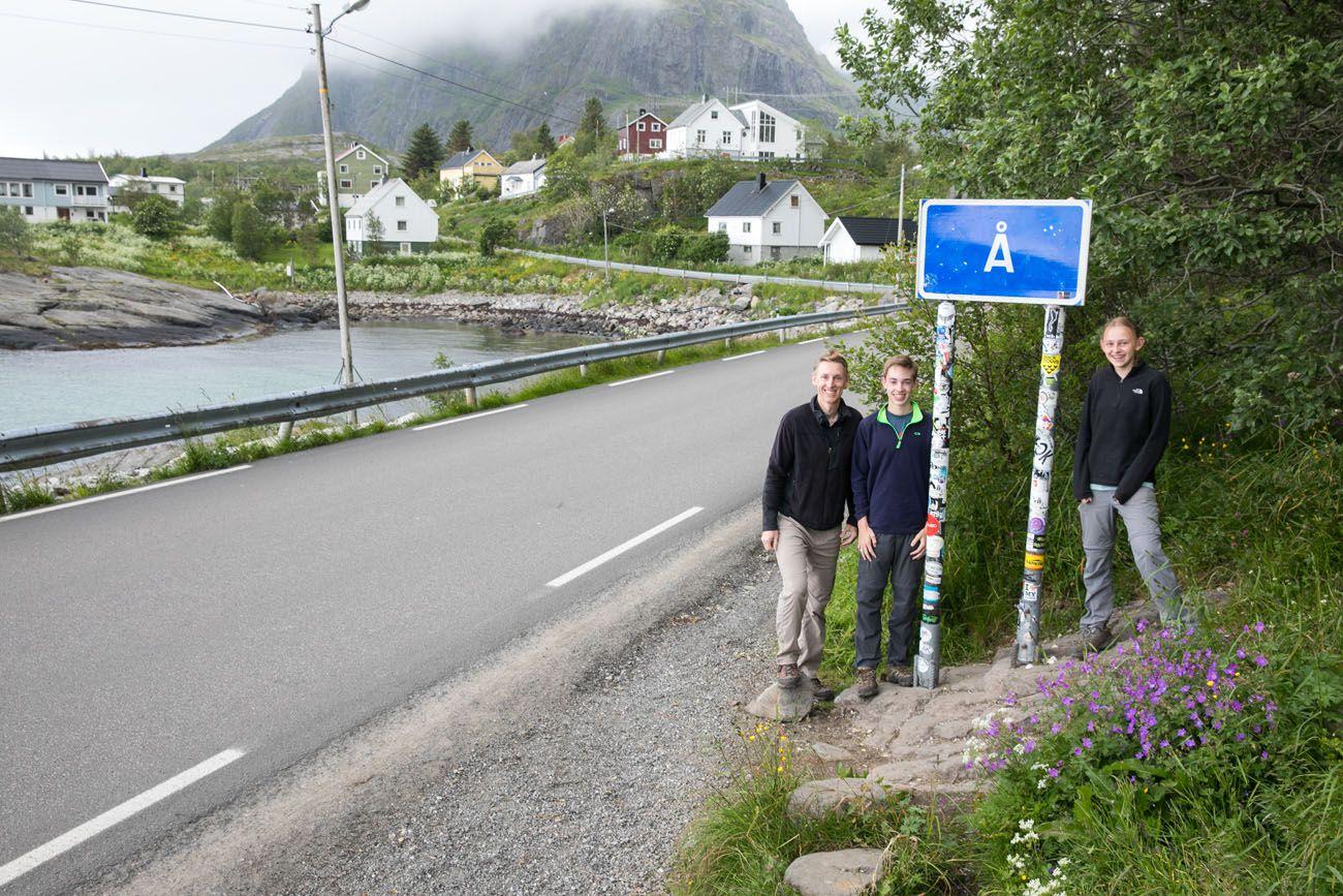 A i Lofoten
