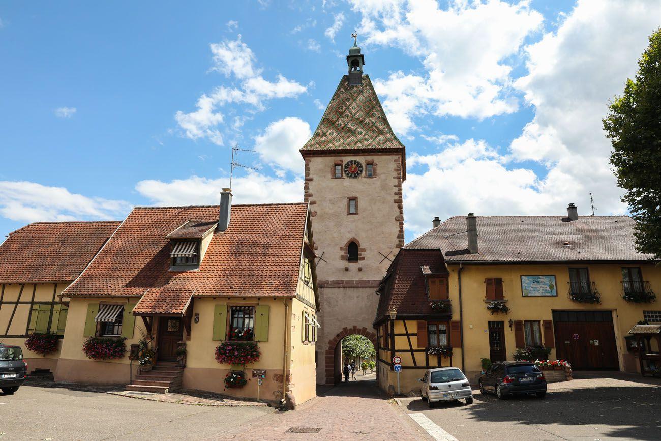 Bergheim Entrance Alsace Wine Route