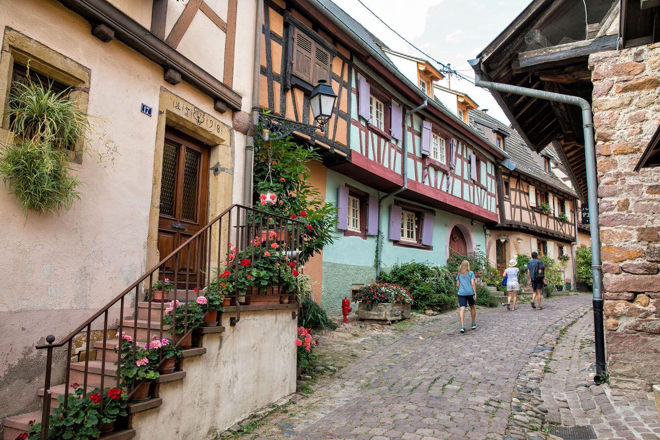 Eguisheim Street Alsace Wine Route