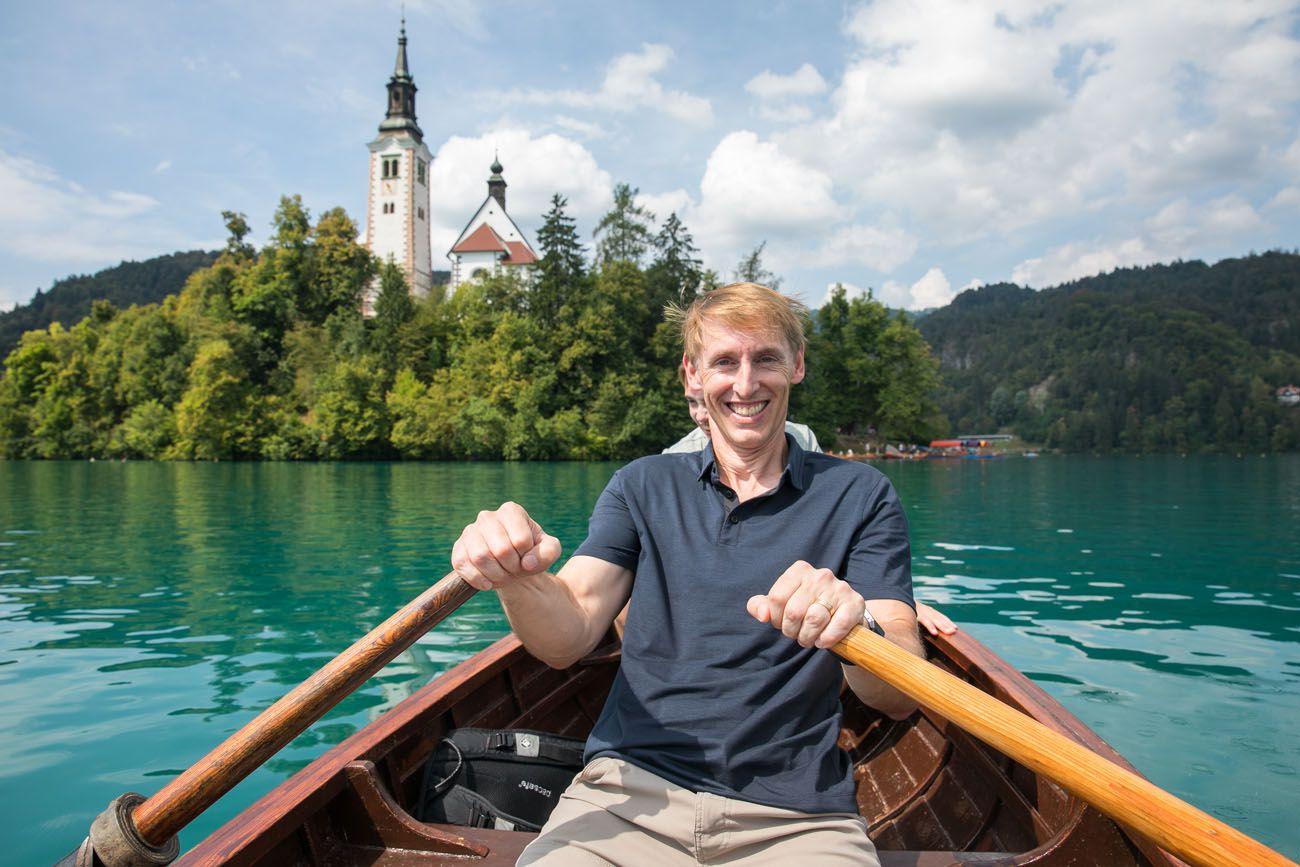 Row Boat Lake Bled