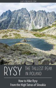 Rysy High Tatras Slovakia Hiking