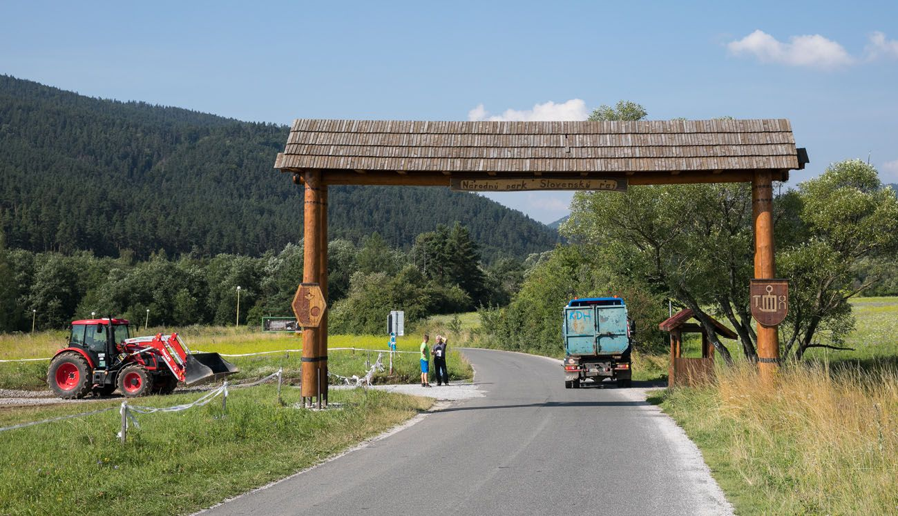 Slovak Paradise Entrance