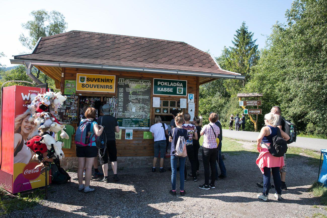 Slovak Paradise ticket booth