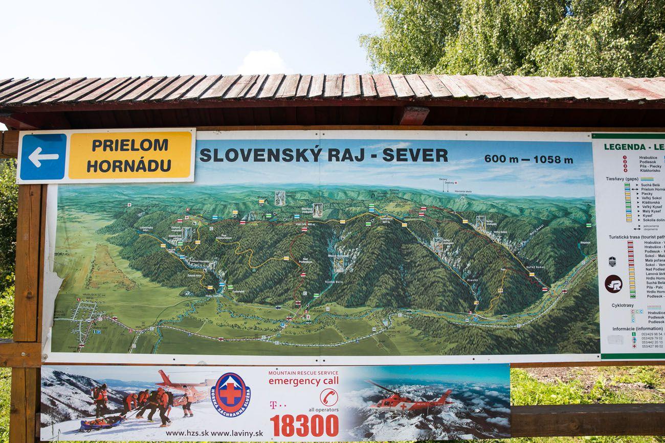 Slovensky Raj Map