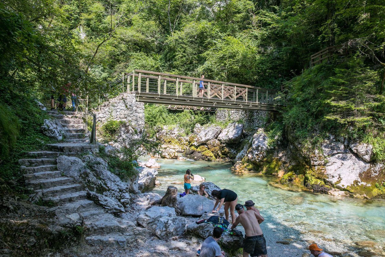 Tolmin Gorge in August