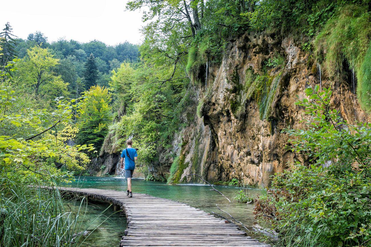 Tyler in Plitvice Lakes