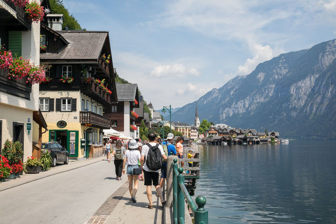 Walking in Hallstatt