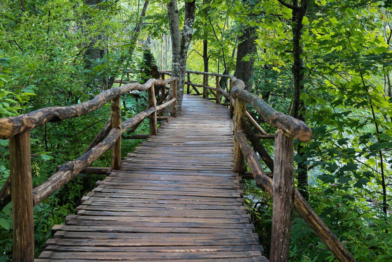 Walking through Plitvice