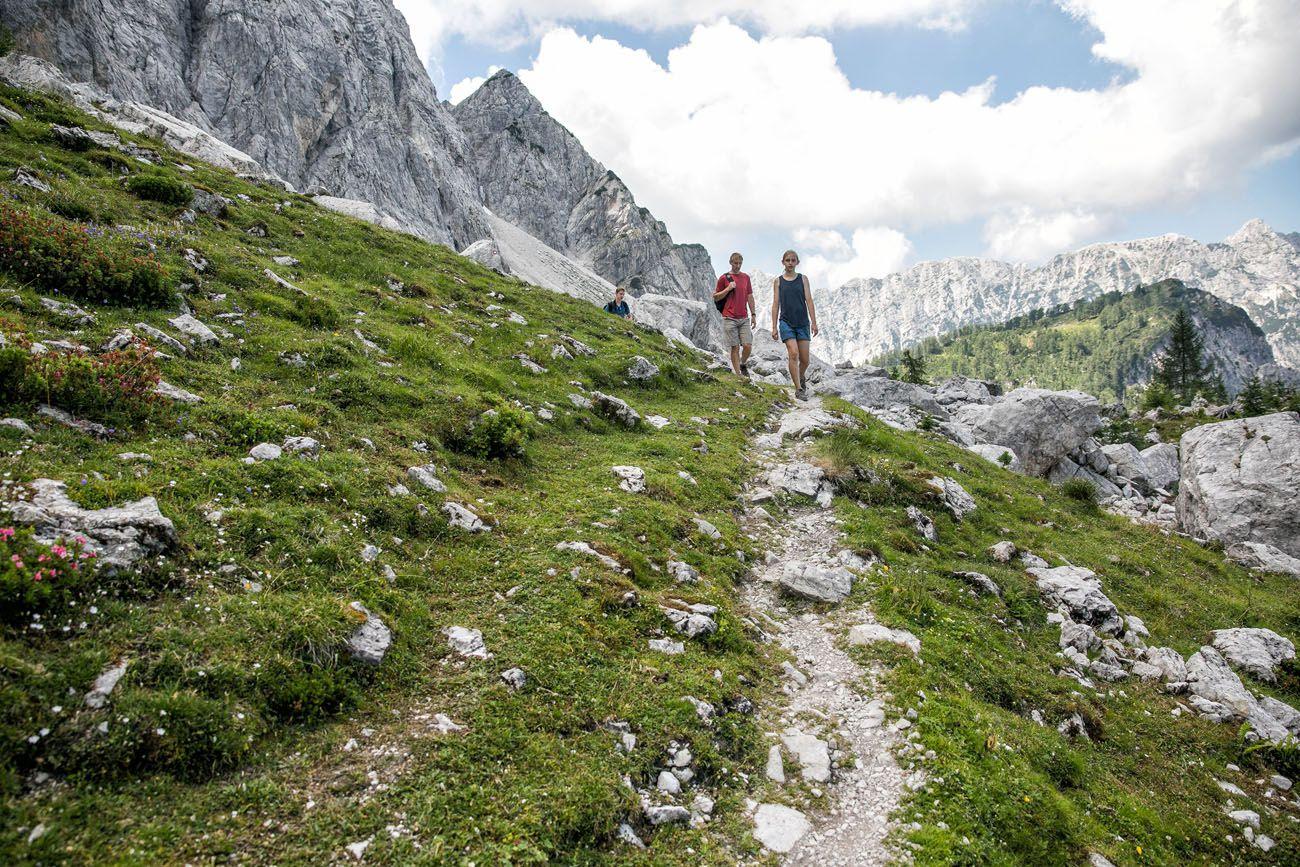 Hiking Vrsic Pass