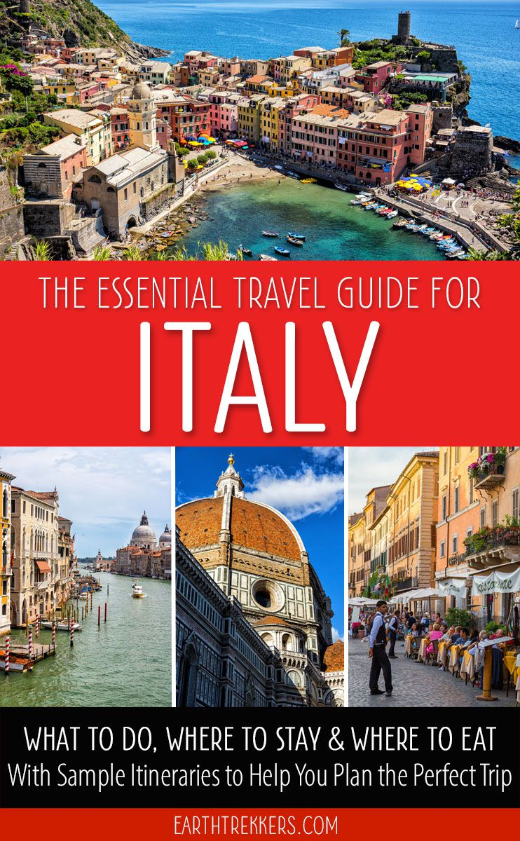 Italy Travel Guide with Itineraries