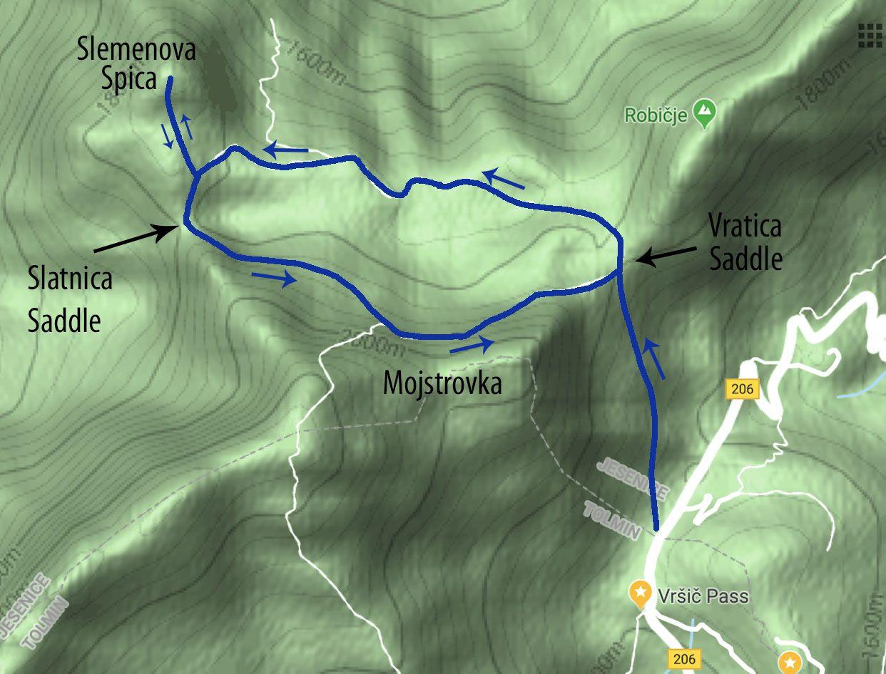 Julian Alps Hiking Map